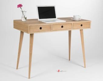 Grand bureau chêne moderne table dordinateur bureau avec