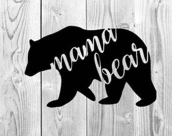 Mama Bear Decal, Yeti tumbler decals, mama bear yeti decal, Car vinyl decal, Gifts for mom, Mothers day gifts, water bottle decal