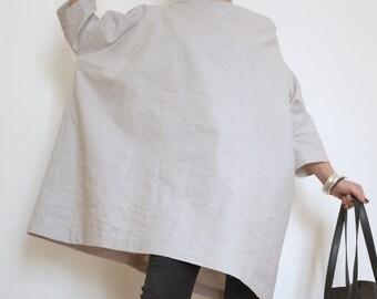 Maxi Tunic - Plus Size Linen Dress - XXL Caftan - Oversized Top - Linen Tunic - Large Dress - Plus Size Long Top - Large Minidress - Linen