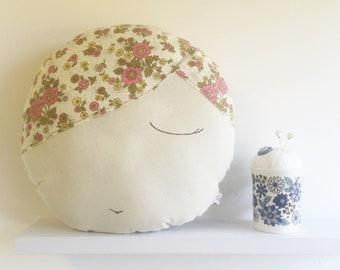 vintage floral fabric cushion - flora - cushion - homewares - upcycled - nursery - playroom
