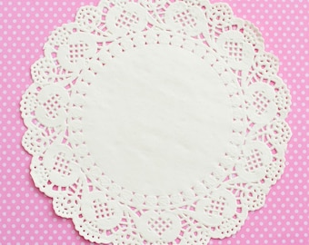 Round White Paper Lace Doilies Party Sweet Birthday Party Catering  10 pack Large 10 x 265MM