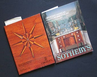Two auction record catalogues American and folk art Sotheby's Christies