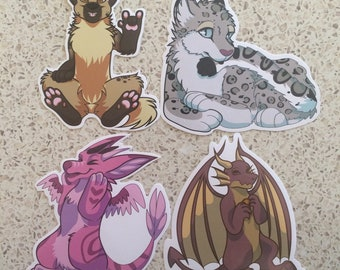 Set of four stickers