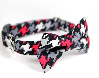 Houndstooth BowTie Dog Collar - Scotty Houndstooth
