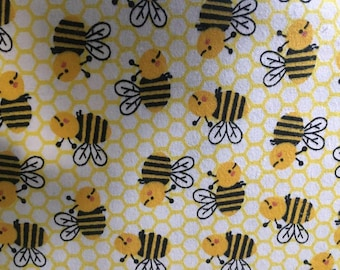 Bubble Bee Flannel Fabric by the Yard