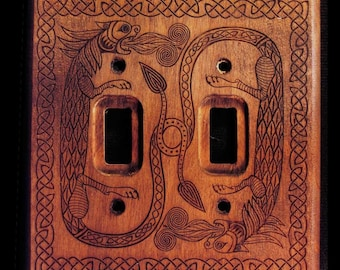 Double Celtic Dragon Switchplate