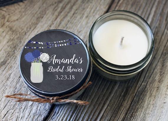 Set of 12 - Hydrangea - 4 oz Candle Favor