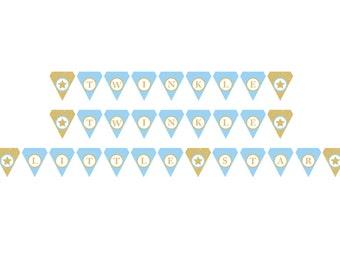 Twinkle Twinkle Little Star - Baby Shower Banner