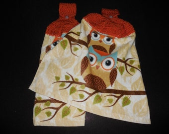 Owls Hanging Kitchen Towels