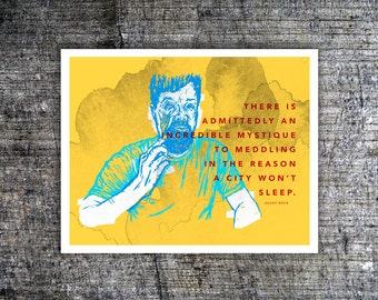 Aesop Rock Illustration Print of Original Art - Drawing of Rapper Wall Art