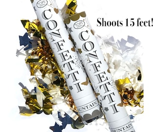 Gold Confetti Cannon | Party Confetti Popper Graduation Party Confetti Shooter Wedding Confetti Cannon Grad Party Birthday Confetti Cannon