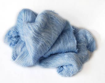 Mulberry Silk Lap Blue - 50 grams