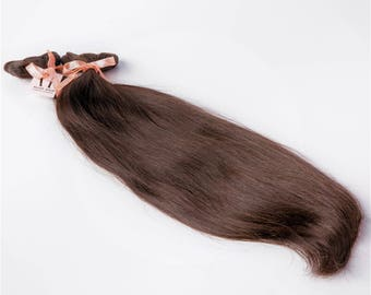 Chocolate brownEuropean Clip in Extensions//Luxury Quality Human Hair// 3 years daily wear guaranteed// Ready to ship