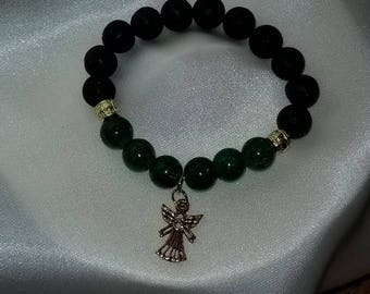 Essential Oil Diffuser Memorial Bracelet - Green