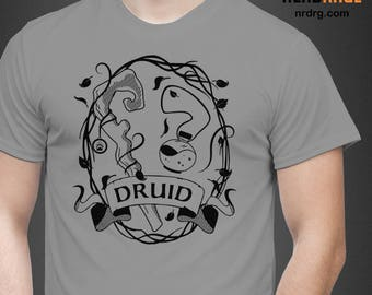 RPG Druid Class T-shirt - Dungeons and Dragons Shirt Design - DnD Unisex Tee - World of Warcraft Shirt - Custom Shirts Available