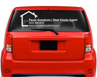 Real Estate Agent decal