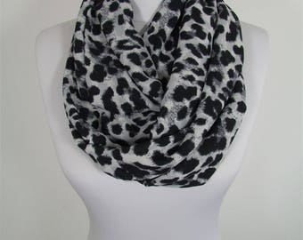 Clothing Gift Leopard Scarf Infinity Scarf Animal Print Scarf Winter Scarf   Mothers Day Gift For Her For Mom For Wife
