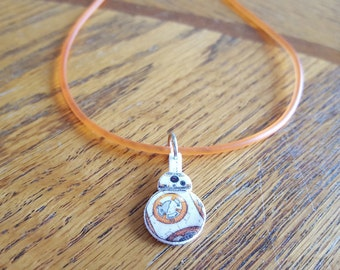 Star Wars The Force Awakens BB-8 Inspired Rubber Cord Necklace