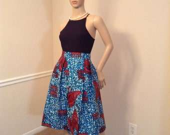 Skirt and head wrap set, African print skirt African print fabric, ankara gowns, prom dress, dashiki fabric, African tribal wear