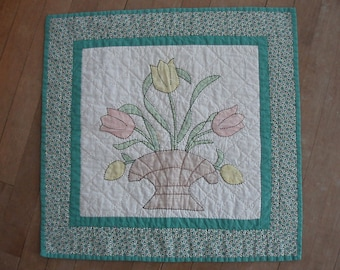 Hand-Colored Tulips Quilt