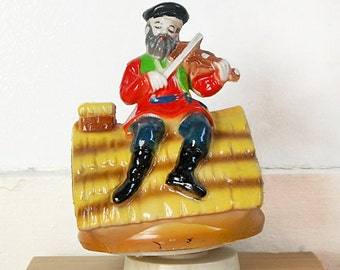Vintage Fiddler on the Roof Music Box Plays Sunrise Sunset Broadway Musical.