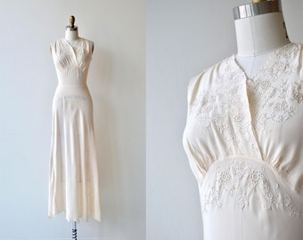 Angelika silk nightgown | silk 1930 nightgown | vintage 30s wedding lingerie
