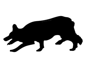 Border Collie Standard Decal (1 Color)