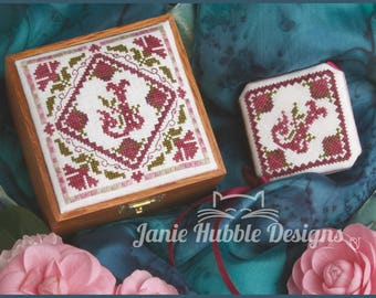 Elegant Initials - Sewing Box Top & Needlecase Pattern