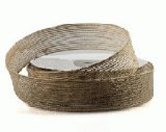 "1"" Burlap Ribbon - 25 Yards (Edges Sewn)"