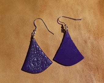 Polymer Triangular Earrings With 925 Sterling Silver Hooks