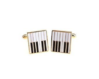 Piano Keyboard Music Cufflinks