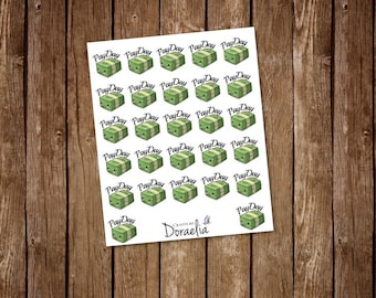 Kawaii pay day planner stickers, Shopping Stickers