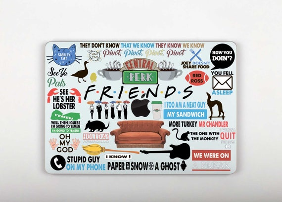 Friends mac macbook decal friends laptop stickers macbook
