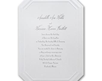 Fancy Facetes wedding invitation