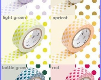 New!! 6 colors masking tape washi made in Japan