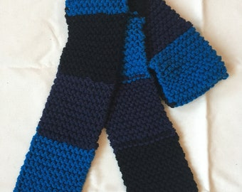 Shades of Blue Striped Scarf