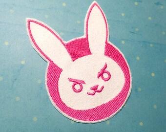 Dorito Gremlin Bunny Rabbit Mascot - D.va Cosplay Iron On Patch - Overwatch  - Hana Song