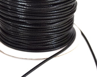 Waxed polyester cord 2mm in packs of 2/4/6/8/10 m