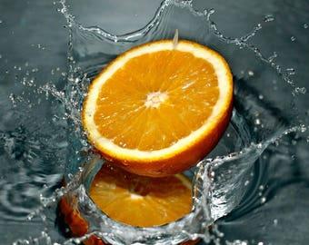 Placemat / blotter laminated Orange splash