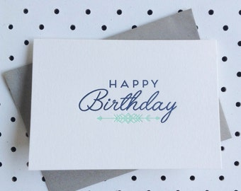 Happy Birthday Letterpress Card