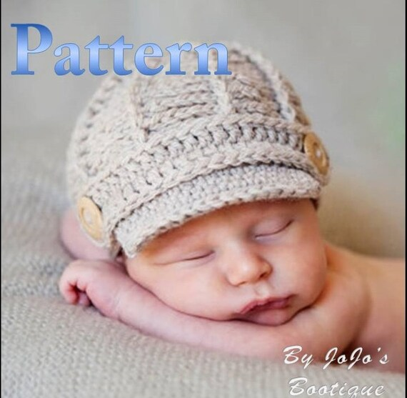 Cute Knitted Baby Boy Hats Newsboy Instructions