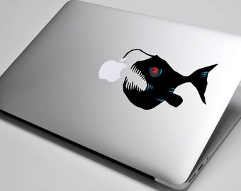 Angler Fish Laptop / Macbook / Notebook Computer Decal Sticker