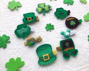The St. Patrick's Day Feltie Headband or Hair Clip