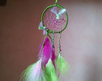 Dream catcher pink and green