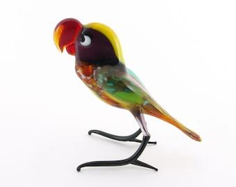 Handmade glass figurines Parrot Ara (Big size)