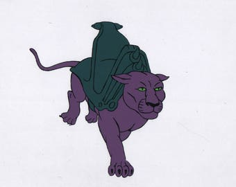 HE-MAN Masters of the Universe Animation Cel Panthor Filmation