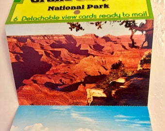 Vintage Grand Canyon Accordion Postcard Book // Fred Harvey // Unused // Josef Muench