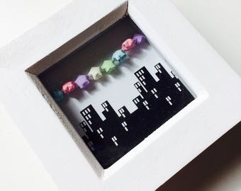 Skyline | City | Lucky Stars | Origami | Star | Box Frame | Cute | Gift | Home