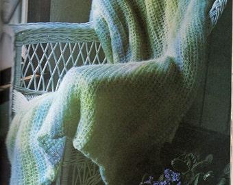 Afghan Crochet Pattern, Mohair Crochet Afghan Pattern, Simple Crochet Pattern, Bridal Shower Gift, INSTANT Download Pattern in PDF (1002)