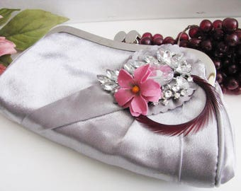 bridal, clutches, Weddings, bridesmaid, Black Wedding clutch, Bridesmaid purse, clutch, wedding purse, Bags and purses, White Clutch